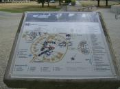 A permanently installed map of the University of Massachusetts Dartmouth campus, located outdoors underneath the walkway between Liberal Arts and the Main Auditorium, installed in early September 2007.