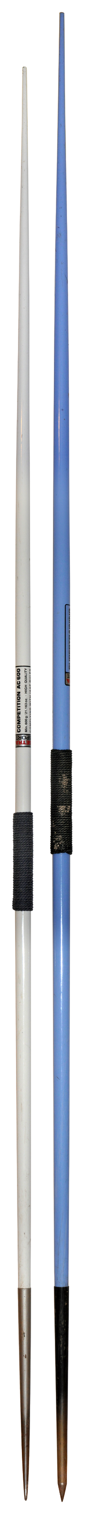 Comparison between a javelin for women (600g) and one for men (800g)
