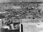 Hiroshima in ruins, October 1945, two months after the atomic bomb exploded