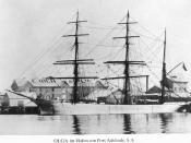 """English: 'Olga' (1875), ex """"Lactura"""", German iron barque (Rhederei Akt. Gesellschaft von 1896)."""