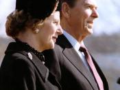 Margaret Thatcher and Ronald Reagan.
