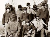White and Black soldiers in 1861. Description given at the source: