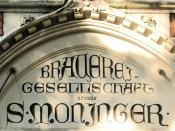 Art Nouveau company sign of Moninger Brewery