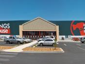 English: Bunnings Warehouse Wagga Wagga panorama.