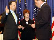 English: Washington, DC, April 15, 2003 --Michael Brown was officially sworn in as the first Undersecretary for Emergency Preparedness and Response for the U.S. Department of Homeland Security (DHS) in a ceremony Tuesday morning. Photo by Jocelyn Augustin