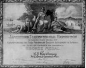Jamestown Exposition Bronze Medal for Heinz