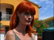 British actress Jane Alexander during the filming of the second season of TV series Il commissario Manara (she playes Dr. Ginevra Rosmini).