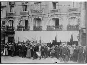 At Gare De L'Est -- Restaurant wrecked by mob  (LOC)