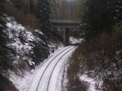 English: Track for Metso Paper and Savela Power plant in Jyväskylä, Finland Suomi: Rata Savelan voimalalle ja Rautpohjan tehtaalle tehtaista pois päin