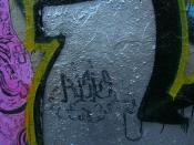 Graffiti lettering of the word