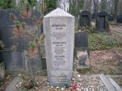 English: Franz Kafka's grave in Prague-Žižkov