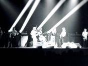 English: The Rolling Stones at Kiel 7/9/72---Kiel Auditorium, St. Louis---Jim Price, Bobby Keys, Mick Taylor, Charlie Watts, Mick Jagger, Keith Richards, Bill Wyman