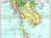 ''An 1886 map of Asia, Qui Nhon is along the central coast of Vietnam.