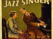 English: Low-resolution image of poster for the movie The Jazz Singer (1927), featuring stars Eugenie Besserer and Al Jolson