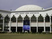 English: Close up view of Agha Hassan Abedi Auditorium at Ghulam Ishaq Khan Institute of Engineering Sciences and Technology on the event of 8th Science fair 2007
