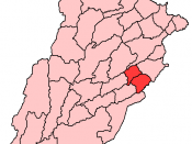 Map of Punjab Pakistan with Okara District highlighted.