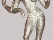 Chola bronze from the 11th century. Shiva in the form of Ardhanarisvara.