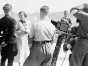 Leni Riefenstahl with Heinrich Himmler at Nuremberg in 1934