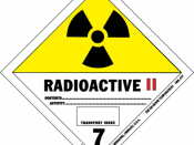 The danger classification sign of radioactive materials