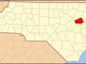 Locator Map of Wilson County, North Carolina, United States