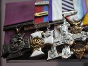 English: Some of the medals awarded to Billy Bishop during his service in the First World War, including (left to right) Victoria Cross, Distinguished Service Order with Bar, Military Cross, Distinguished Flying Cross, 1914-1915 Star, British War Medal 19