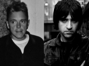 Bernard Sumner and Johnny Marr of the British band Electronic