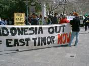 Demonstration against Indonesian occupation of East Timor, September 10, 1999.