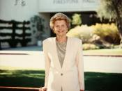 English: Betty Ford, Chairman and co-founder of the Betty Ford Center since 1982, exerted a hands-on leadership style until 2004, when she became Chairman Emeritus and her daughter Susan Ford Bales assumed the Chairman position. ** The Betty Ford Center h