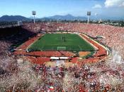 English: National Stadium in Santiago, Chile Español: Estadio Nacional en Santiago, Chile