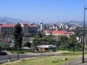 Addis Ababa cityscape, and the Sheraton Hotel