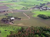 English: An aerial view of the Barossa Valley in South Australia, Australia.