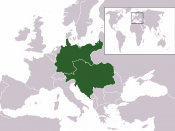 The Austro-Hungarian Empire, German Empire and prior to World War One, based on Image:Location Austria Hungary 1914.png