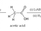 A couple of typical organic reactions of acetic acid.