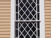 English: Window frame of Old Ship Church, Hingham, Massachusetts