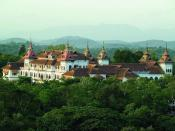 English: The residence of the Maharajah of Travancore