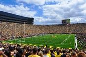 English: University of Michigan Stadium September 4, 2010 game against the University of Connecticut