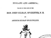 Genealogy of the Gilman Family in England and America by Arthur Gilman 1864