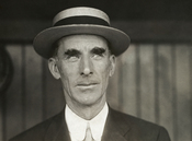 English: Connie Mack, as manager of the Philadelphia Athletics. Français : Connie Mack, lorsqu'il était directeur des Philadelphia Athletics.