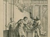 English: Illustration of Act III, scene II from Titus Andronicus
