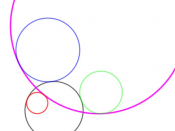 Fourth pair of solution circles for Apollonius' problem.