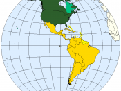Division of the Americas into Anglo-America and Latin America.