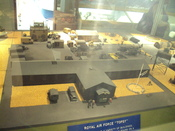 Model of a royal Air Force base. Photo taken at the RAF Museum Cosford, Shropshire, England.
