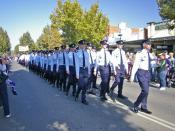 Anzac Day March. Wagga Wagga, New South Wales