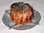 Kulich (a kind of Easter cake, traditional in the Orthodox Christian faith)