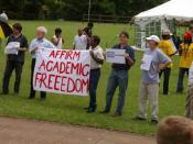 English: Protesting academics in 2006 at UKZN