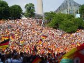 Deutsch: Fans im Olympiapark München beim Spiel Deutschland - Costa Rica