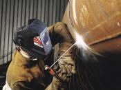 English: Stick Welding Pipe Welding Application Photo