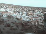 Surface of Mars as photographed by the Viking 2 lander December 9, 1977.