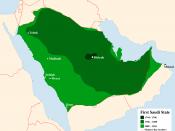 English: the First Saudi State. 1744 – 1766 1786 – 1808 1808 – 1816