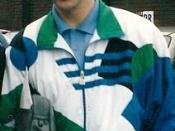 Bryan Robson, former Man. United player, in 1992 at the cliff training ground.